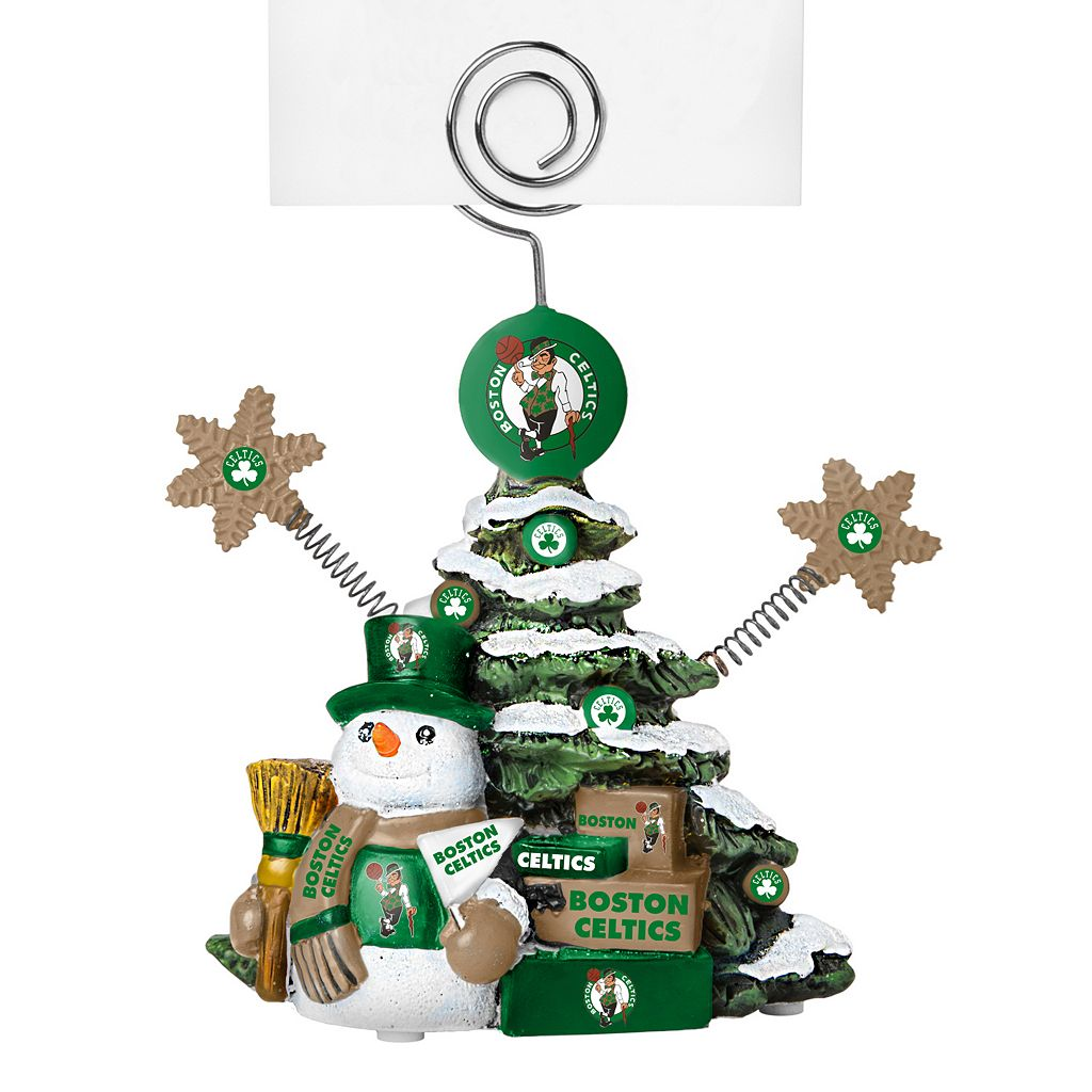 Boston Celtics Christmas Tree Photo Holder