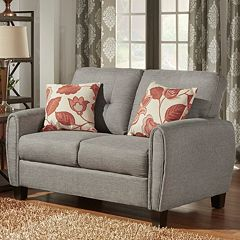 HomeVance Manda Eclipse Arm Loveseat