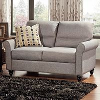 HomeVance Gabry Rolled Arm Loveseat