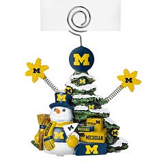 Michigan Wolverines Christmas Tree Photo Holder