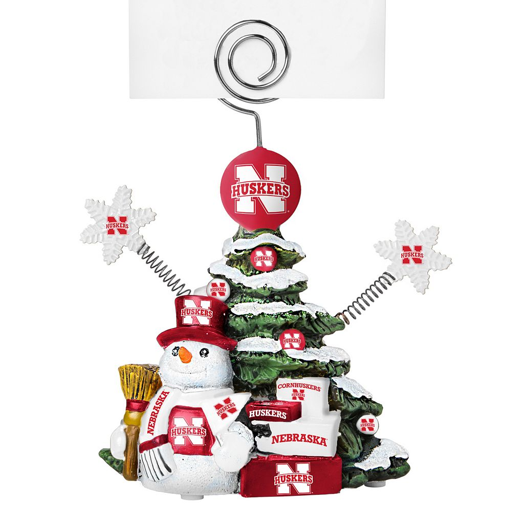 Nebraska Cornhuskers Christmas Tree Photo Holder