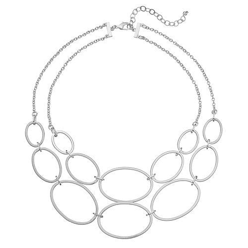 Oval Link Multistrand Necklace