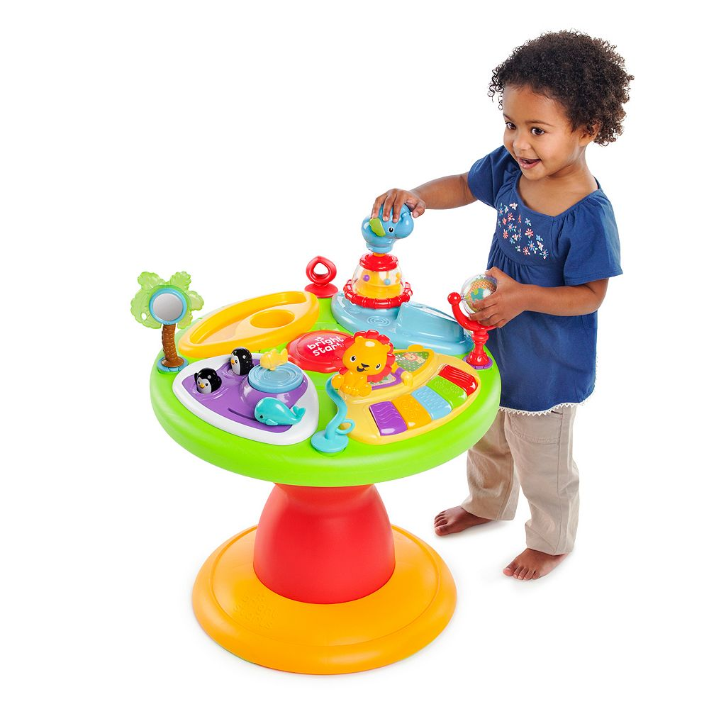 Bright Starts Zippity Zoo 3-in-1 Around We Go Activity Center Walker