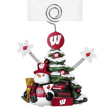 Wisconsin Badgers Christmas Tree Photo Holder