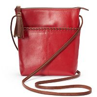 ili Leather Tassel Crossbody Bag