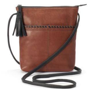 ili Leather Tassel Crossbody Bag