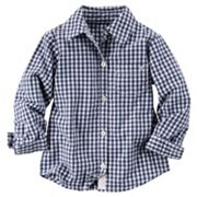 Girls 4-7 Carter's Poplin Button-Down Shirt
