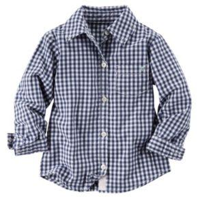 Girls 4-7 Carter's Poplin Button-Down Shirt