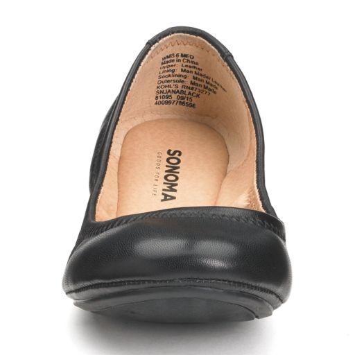 SONOMA Goods for Life™ Women's Leather Ballet Flats