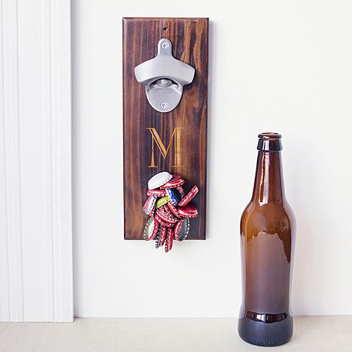 Cathy's Concepts Monogram Wall-Mounted Bottle Opener