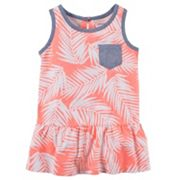 Girls 4-8 Carter's Tropical Chambray Pocket Peplum Tank