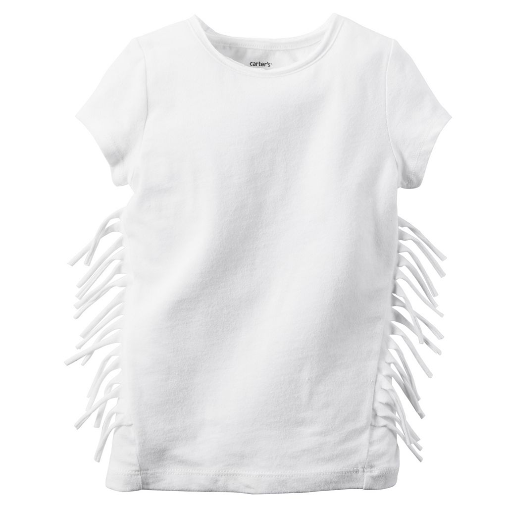 Girls 4-8 Carter's Solid Fringe Tee