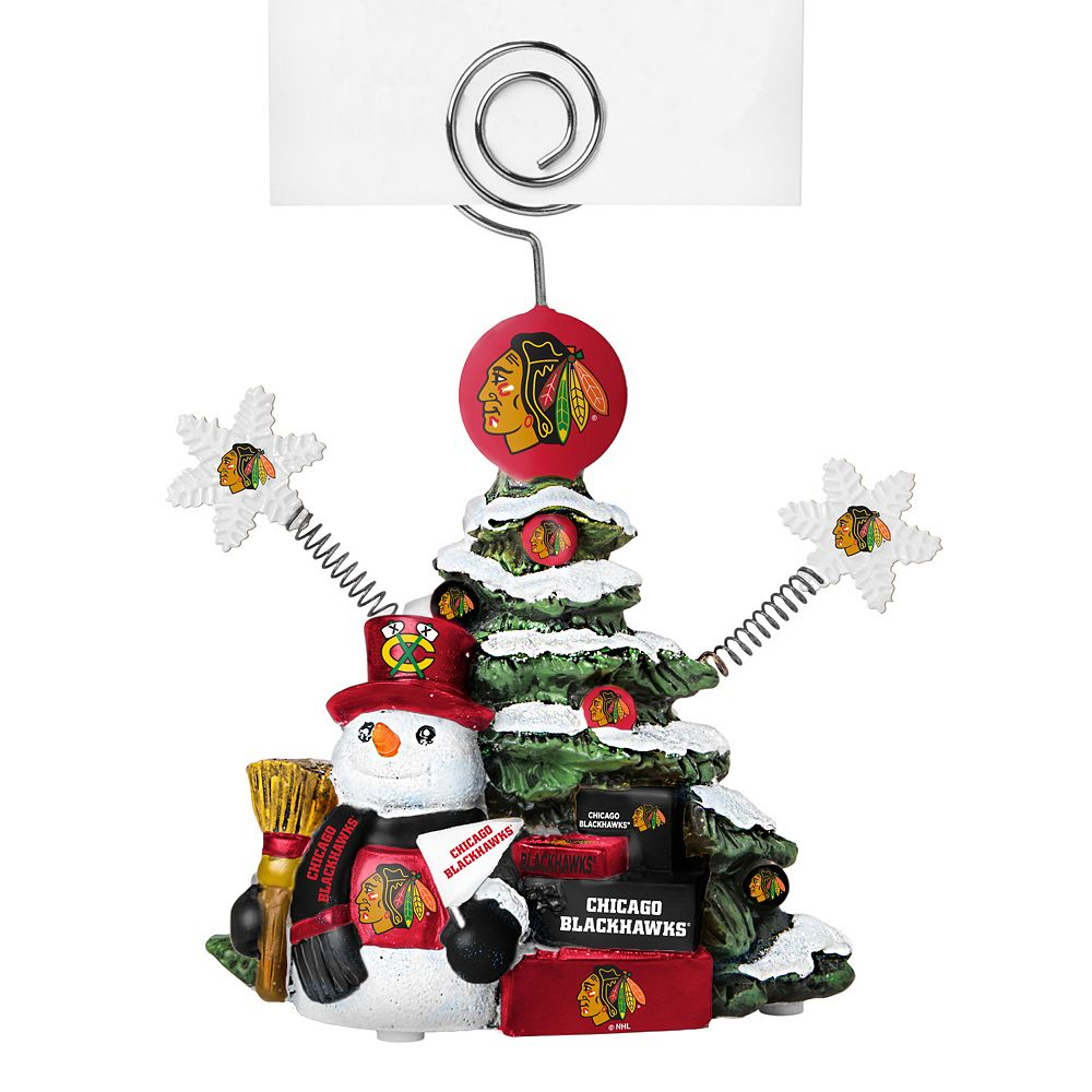 chicago blackhawks christmas tree photo holder - Blackhawks Christmas
