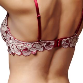 Montelle Intimates Bra: Indulgence Flirt Lace Embroidery Balconette Bra 9238