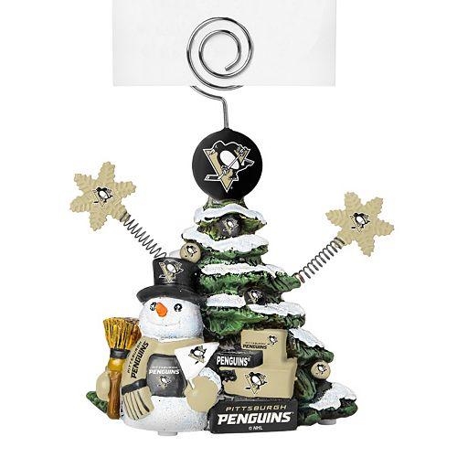 Pittsburgh Penguins Christmas Tree Photo Holder