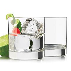 Libbey Heavy Base 4 pc Double Old-Fashioned Glass Set