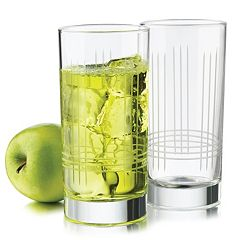Libbey Crosshatch 4 pc Cooler Glass Set
