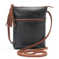 ili Leather Two-Tone Mini Crossbody Bag
