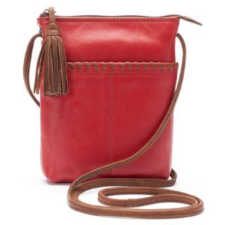 ili Leather Two-Tone Mini Crossbody Bag