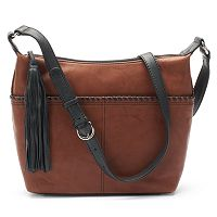 ili Leather Tassel Hobo