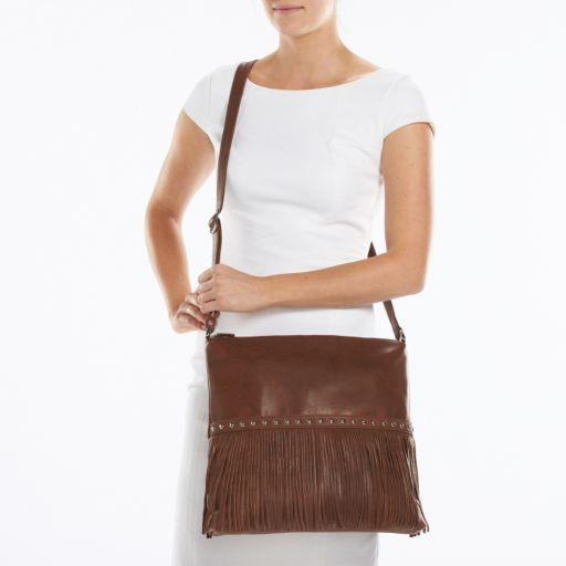 ili Leather Studded Crossbody Bag