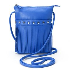 ili Leather Fringe Crossbody Bag