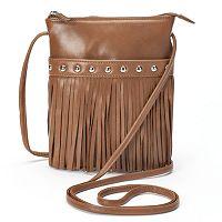 ili Leather Fringe Crossbody Bag