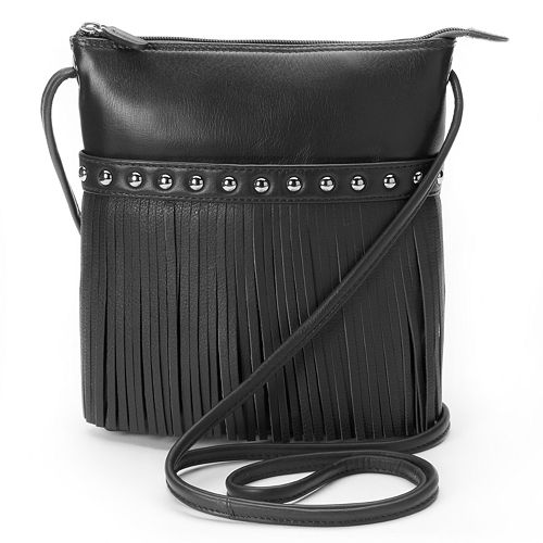 0f0e9c9cdd ili Medium Leather Fringe Crossbody Bag