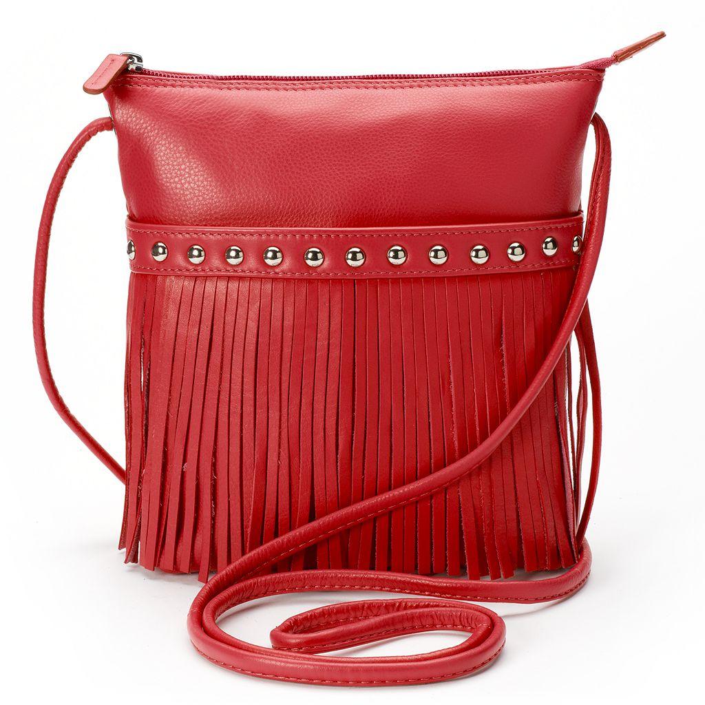 ili Medium Leather Fringe Crossbody Bag