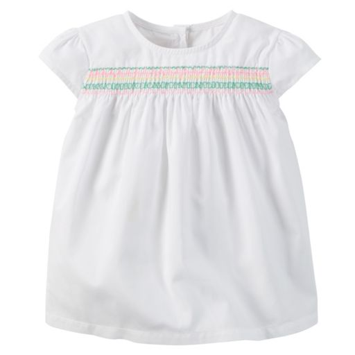 Girls 4-8 Carter's Embroidered Woven Top