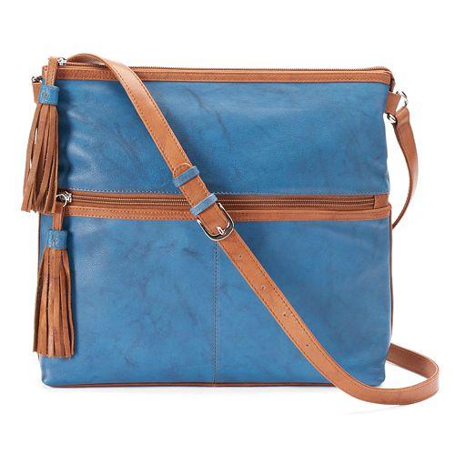 ili Leather Tassled Crossbody Bag