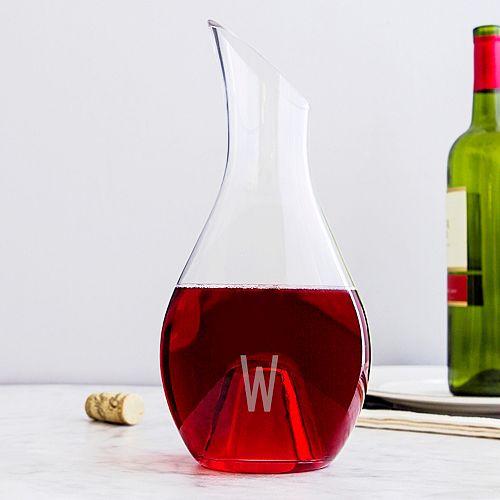 Cathy's Concepts 30-oz. Aerating Monogram Wine Decanter