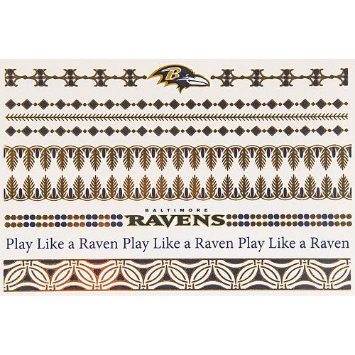 Baltimore Ravens Temporary Jewelry Tattoo 2-Pack