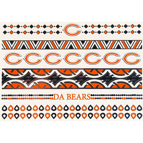 Chicago Bears Temporary Jewelry Tattoo 2-Pack