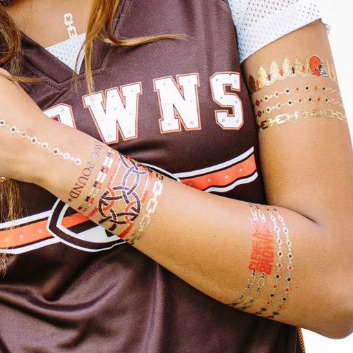 Cleveland Browns Temporary Jewelry Tattoo 2-Pack
