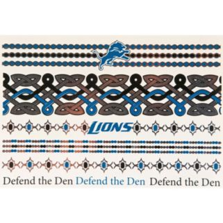 Detroit Lions Temporary Jewelry Tattoo 2-Pack