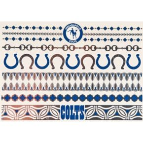 Indianapolis Colts Temporary Jewelry Tattoo 2-Pack