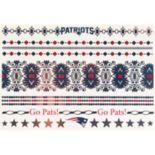 New England Patriots Temporary Jewelry Tattoo 2-Pack