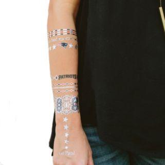 New EnglandPatriots Temporary Jewelry Tattoo 2-Pack