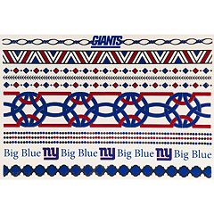 New York Giants Temporary Jewelry Tattoo 2-Pack