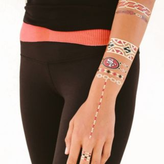 San Francisco 49ers Temporary Jewelry Tattoo 2-Pack