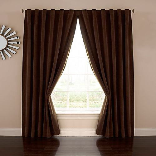 Absolute Zero Velvet Thermaback Blackout Home Theater Curtain