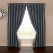 eclipse Absolute Zero Thermaback Blackout 1-Panel Velvet Home Theater Window Curtain