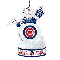 Chicago Cubs LED Snowman Ornament