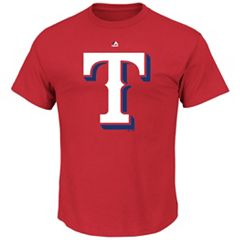 Men's Majestic Texas Rangers Cooperstown Team Color Tee