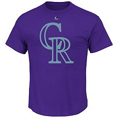 Men's Majestic Colorado Rockies Cooperstown Team Color Tee