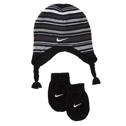 a3259cfd26d18f Baby Boy Nike Marled Knit Beanie & Mittens Set