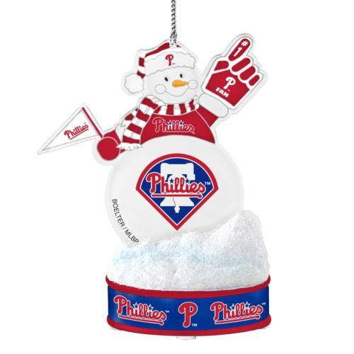 Philadelphia Phillies LED Snowman Ornament