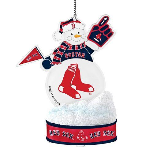 Boston Red Sox LED Snowman Ornament
