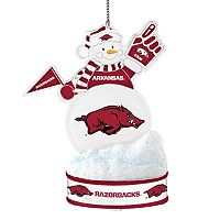 Arkansas Razorbacks LED Snowman Ornament